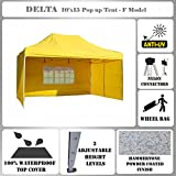 Cheap 10'x15′ Pop up Canopy Wedding Party Tent Gazebo EZ Yellow – F Model Commercial Frame By DELTA Canopies