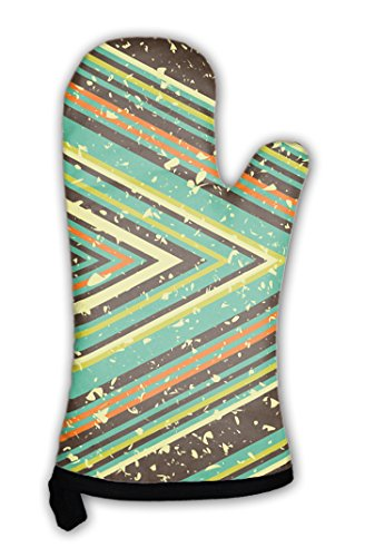 Gear New Oven Mitt, Stripes, (Stripe Mitten Clips)