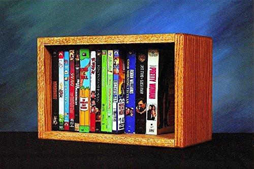 Wood Shed Solid Oak desktop or shelf DVD/ VHS Cabinet Honey Oak
