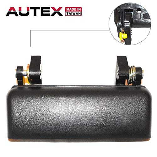 (AUTEX Black Exterior Outside Front Right Passenger Side Door Handle Compatible with Ford Ranger 1993-2003 Replacement for Mazda B2300 B3000 B4000 94-98, 90021)