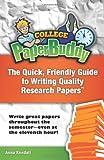 College PaperBuddy, Anna Kendall, 147838123X