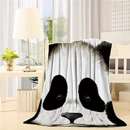 - COLORSUM Cartoon Soft Plush Throw Blanket 40x50 inch Printed Flannel Fleece Blanket for Bedroom Living Room Couch Bed Sofa - Cute Animal Panda Bear