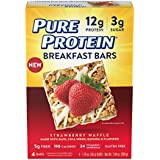 Rein Protein Breakfast Bar, Strawberry Waffle, 4 Count Multipack, Gluten Free Soft and Chewy Cereal Bar with Oats, Quinoa, & Chia Seeds, Excellent Source of Fiber and Protein