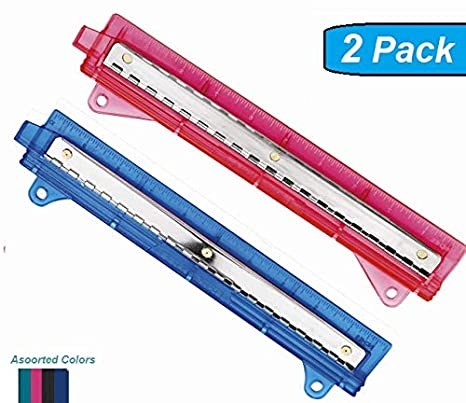 1InTheOffice Binder 3 Hole Punch, Assorted Colors ''2 Pack'' (3 Hole Punch)