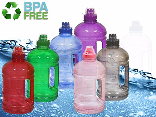 32b87a6afd Elite Mailers Eco Friendly 1/2 Gallon (64 oz.) BPA Free FDA Approved Plastic  Water Half Gallon Bottle w/ 48mm Twist Cap Perfect For Outdoor Sports Gym  ...