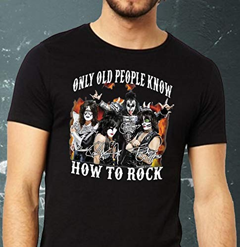 Kiss band only old people know how to rock T-Shirt Sweatshirt Long Sleeve Hoodie