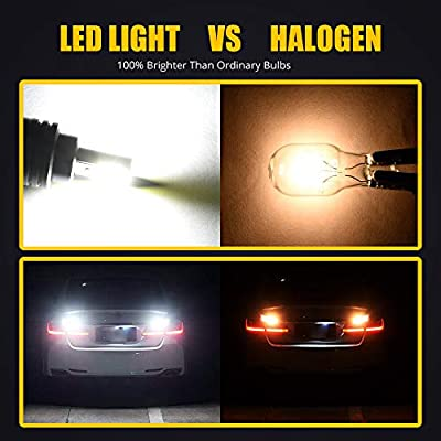 2pcs EMC 1600LM BAY15D 1157 2357 7528 2057A 1157A LED Bulbs High Power 2xCOB No Radio Phone Signal Interference for Back Up/Reverse,Brake/Tail,Turn Signal/Parking,Running Lights.Xenon White.: Automotive