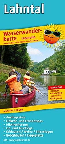 Lahntal: Leporello Wasserwanderkarte mit Ausflugszielen, Einkehr- & Freizeittipps, Kilometrierung, Ein- und Ausstiegen, Schleusen / Wehren/ ... GPS-genau. 1:50000 (Wasserwanderkarte / WwK)