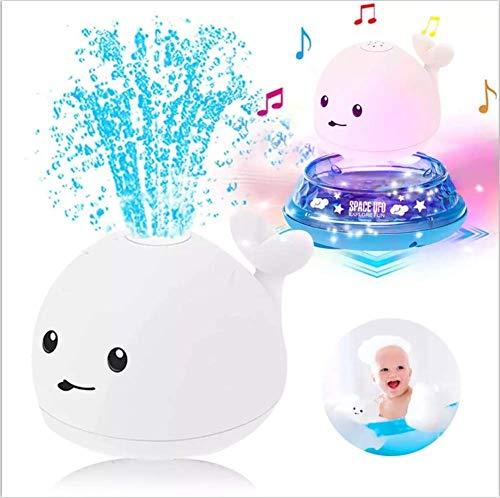 Baby Bad Speelgoed, 2 in 1 Elektrische Inductie Walvis Water Spray Toy, Jongens Meisjes kinderen speelgoed Leeftijd 1 2…
