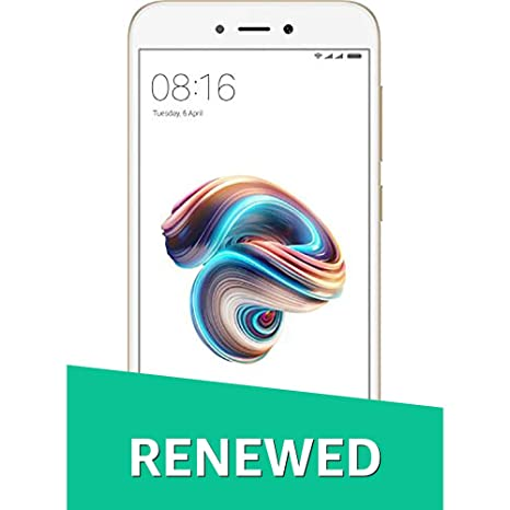 Renewed  Redmi 5A MCI3B  Gold, 2  GB RAM, 16  GB Storage  Smartphones