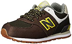New Balance KL574 Expedition Running Shoe (Infant/Toddler), Green/Yellow, 2 M US Infant