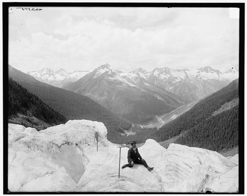Rogers Pass Framed - Photo: Selkirk Mountains,Hermit Range,Rogers Pass,Glacier National Park,Canada,1900