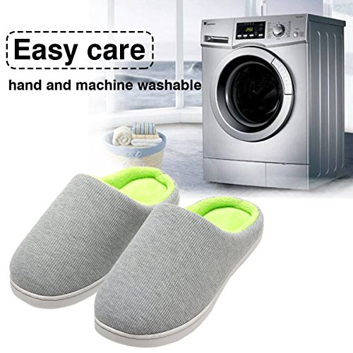 Foam Gray Two Slipper Cozy Women's Slippers Comfort Anti Green House Tone skid Memory t1wRPqR4