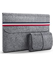 HOMIEE Laptop Sleeve Felt MacBook Protective Cover Case for MacBook Pro/iPad Pro/Dell/Lenovo/HP/Chromebook with Extra Storage Case and Mouse Pad
