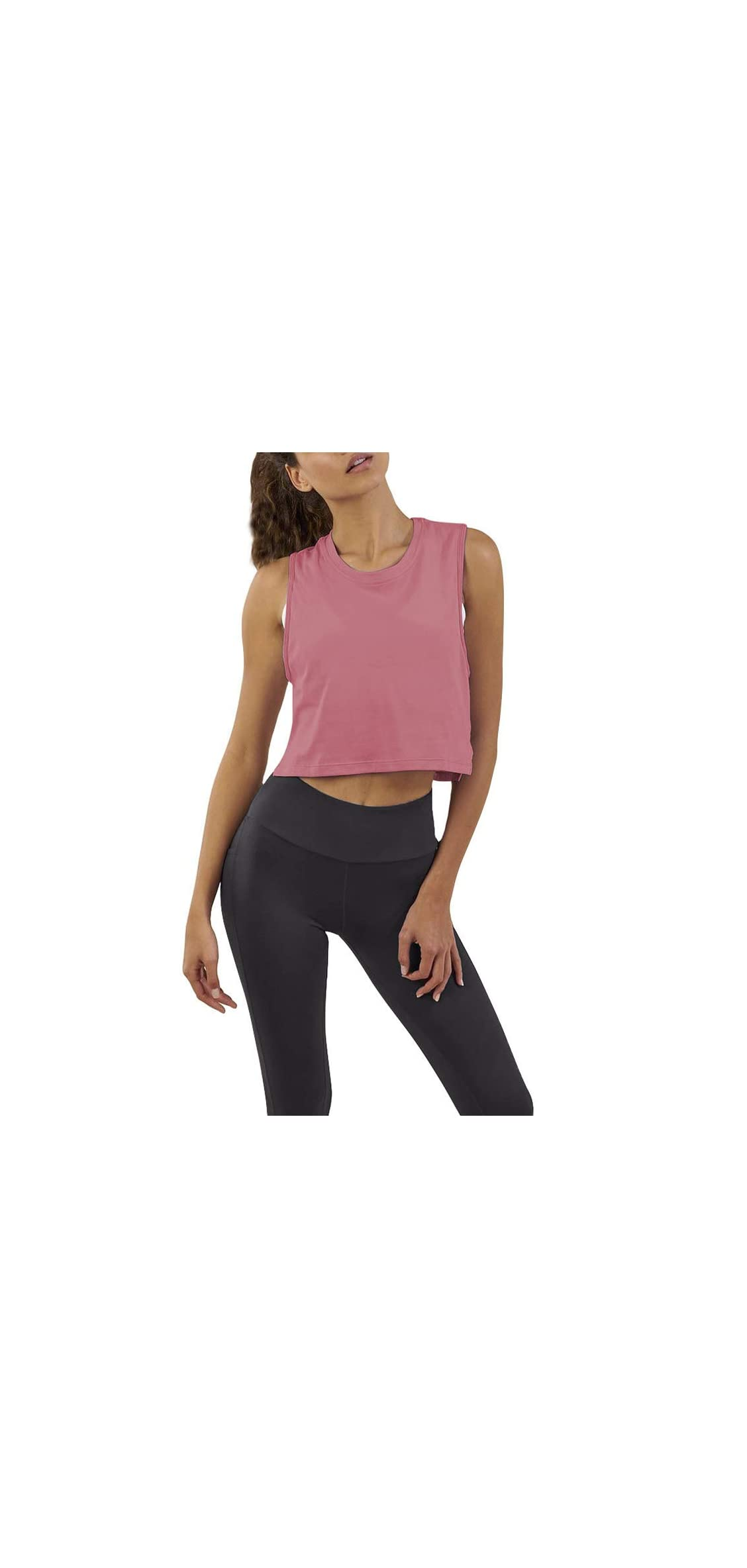 Women's Loose Flowy Mesh Workout Athletic Gym Crop Top Tee