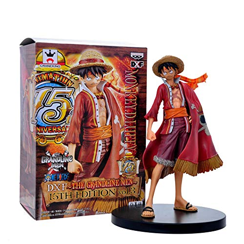 Chutoral One Piece Action Figure, Luffy Theatrical PVC Figure Ornaments for Collection Bedroom Car Decoration Toy Gift