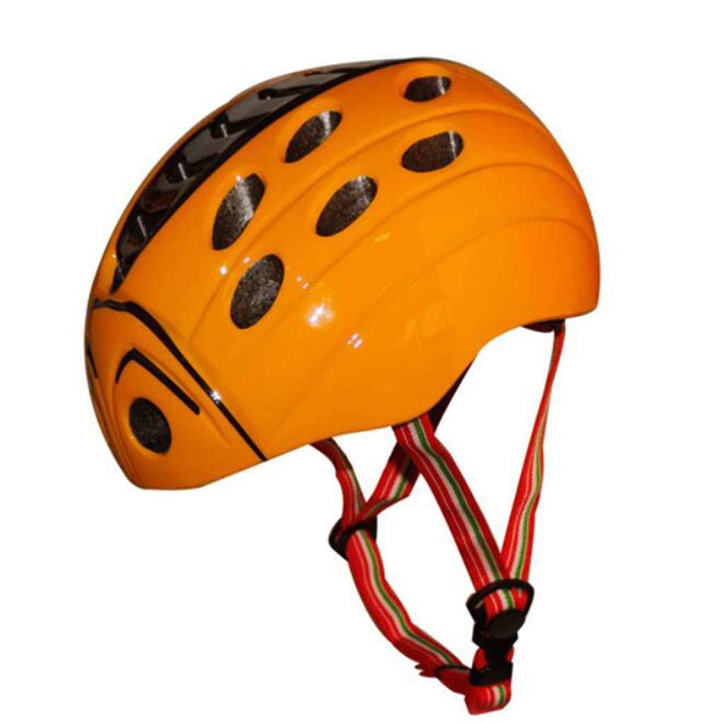 ヘルメット、子供の自転車のヘルメット、虫のひな形、少年少女、ワンピースヘルメット (色 : Orange, サイズ さいず : S code (52-57cm)) B07JHSQ5ZY S code (52-57cm)|Red Red S code (52-57cm)