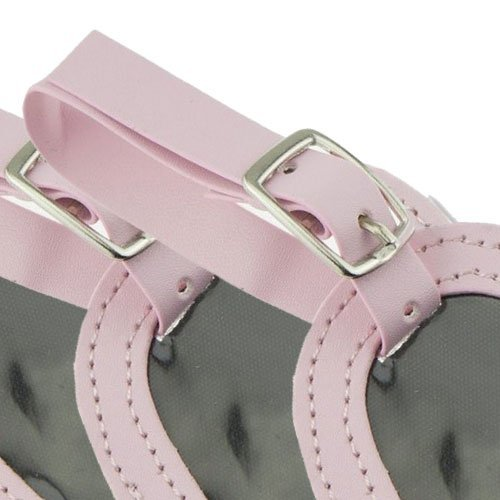Pink Heart Leather Luggage ID Name Tags Baby Bridal Shower Wedding Girl Birthday Party Favor (100)