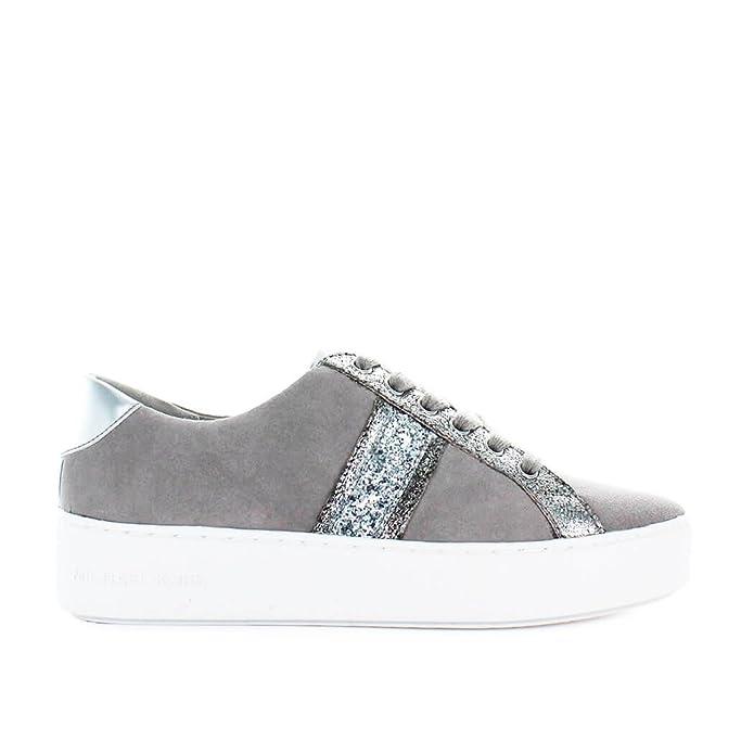 Amazon.com: Michael Kors Womens Shoes Poppy Stripe Pearl Grey Sneaker Spring Summer 2018: Shoes
