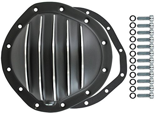 12 Bolt Differential Cover (Black Aluminum Finned Chevy GM 12 Bolt Diff 8.75