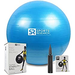 Sports Research Stability Ball (Blue, 65cm)
