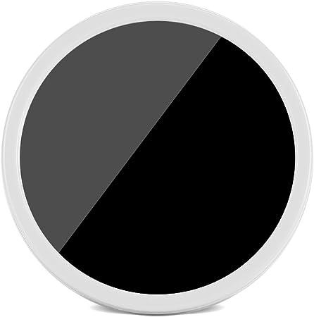 Fdit Mini Horloge Miroir R/éveil /Électrique Num/érique LED Miroir Horloge /à Piles Lumi/ère Nuit Horloge de Table pour Bureau Chevet Maison 8 8cm Blanc