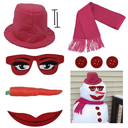 Evelots 10-Piece Lady Snowman Kit, Snow Woman Decorating Kit -