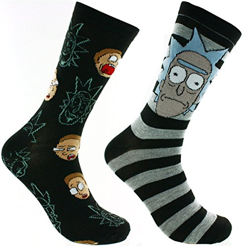 Rick And Morty 2 Pack Casual Crew Socks (RM1)