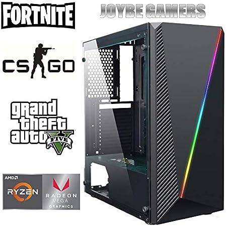 JOYBE - Ordenador Gaming SOBREMESA JOYBE MCX RYZEN 3 2200G SSD 240GB + HDD 1TB 8GB DDR4 Grafica Radeon Vega 8 Windows 10 Pro Juegos