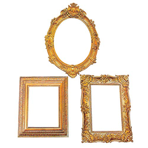 Antique Picture Frame Cutouts (3 Pieces) Perfect for Wedding and Party Decor - -