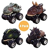GZCY Dinosour Mini Toy Cars for Boys Toddlers, Dinosour Pull Back Cars for Kids 2-8 Year Old Boys Toys Birthday Present