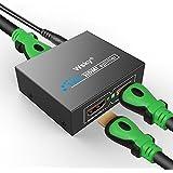 Wsky 1x2 HD Hdmi Signal Splitter, Hdmi Switch, Support Full 4K HD 1080P & 3D, Super Fun for HDTV, Game Consoles, PC & More