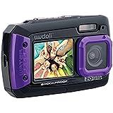 Wudoli WUD-WC01P Dual Full-Color LCD Displays Underwater Shockproof Digital Camera & Video Camera, Purple