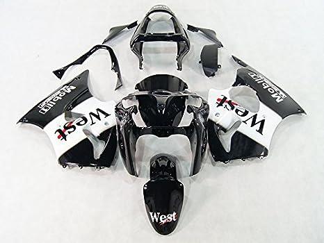Amazon.com: Moto Onfire White Black Plastic Fairing Kits For ...