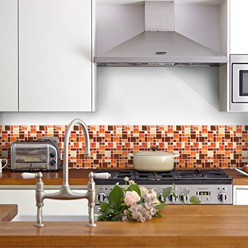 Peel and Stick Wall Tile for Kitchen Backsplash-Stick on Ties for Backsplash(4 Sheets)