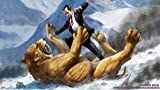 Richard Nixon fighting a Sabertooth Tiger *various sizes available