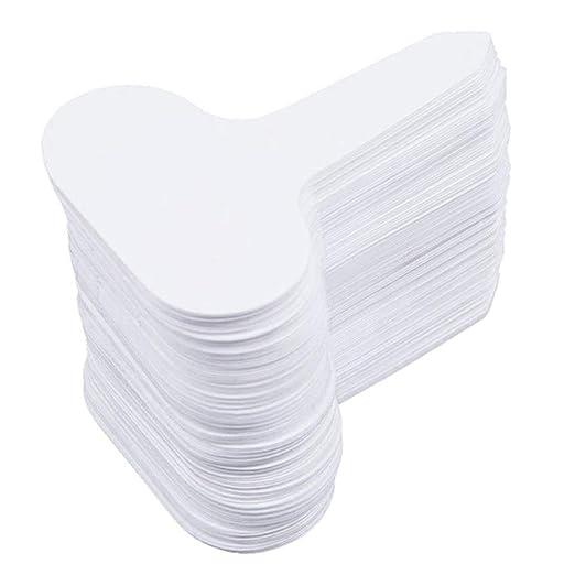 UnitedheartES 100Pcs Etiquetas de jardín de plástico de Tipo T ...