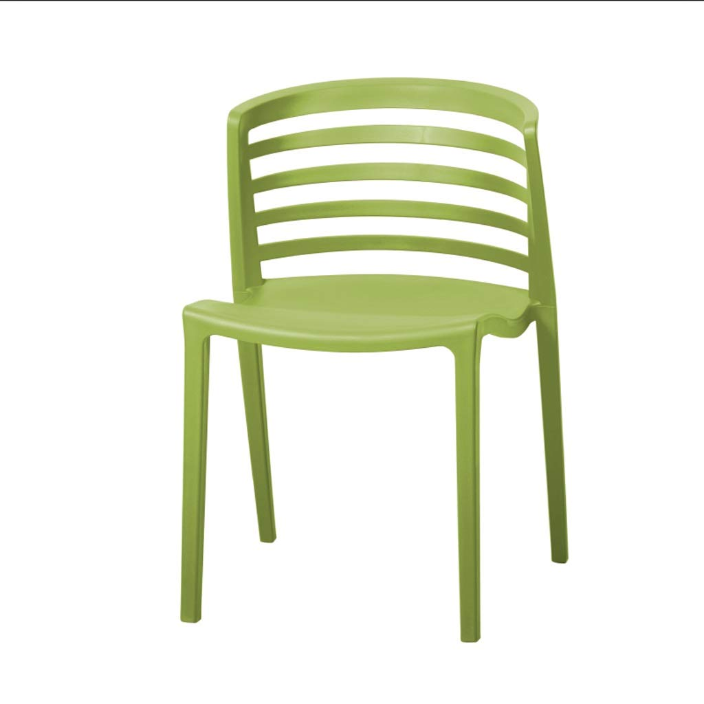Green 505575cm Restaurant Plastic Chair Back Chair Cafe Chair Office Chair Bedroom Dormitory Chair Stackable (color   Black, Size   50  55  75cm)