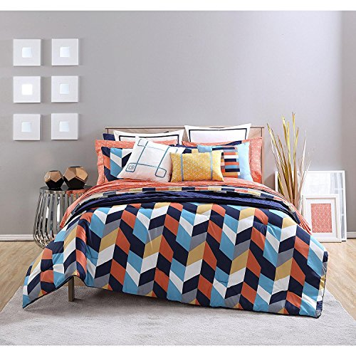 183 Best Orange Coral Yellow Bedroom Images On Pinterest: Compare Price: Navy Blue Coral Bedding