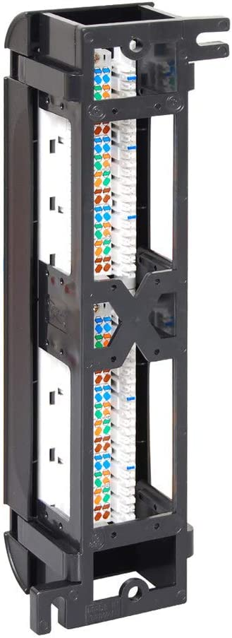 ICC CAT5e Vertical Patch Panel with 12 Ports in 6-Pack