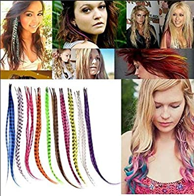 Mixed color Synthetic Feather