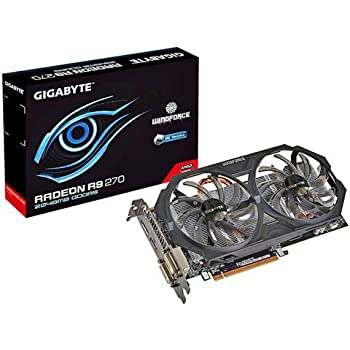 Gigabyte R9 270 GDDR5-2GB 2xDVI/HDMI/DP OC Graphics Card (GV-R927OC-2GD)