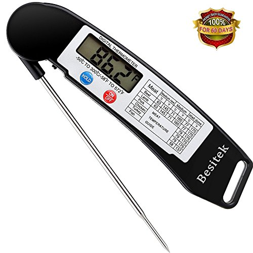 Great Deal! Digital Meat Thermometer Instant Read Cooking Thermometer with Stainless Probe, Best for...