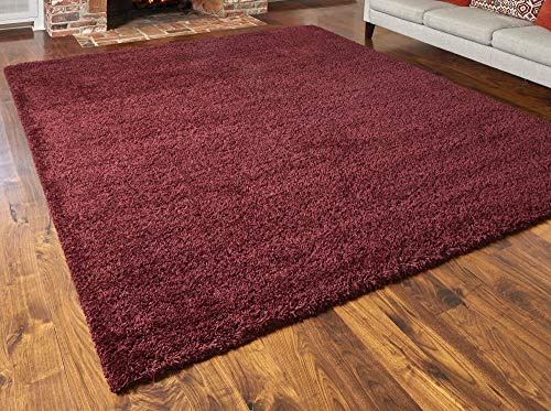 Amazon Com Gertmenian True Shags Collection Red Shag Rug