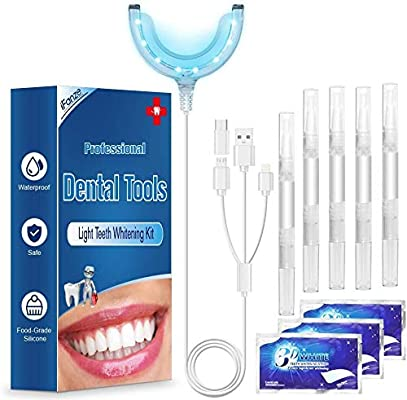 Amazon Com Teeth Whitening Kit 16 Teeth Whitening Led Light