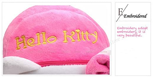 Amazon.com: High Quality Rose Red Hello Kitty Plush Cartoon Toy Backpack Girl Character School Bag Gift For Kids Mochila Infantil infano donacon ludilo: ...