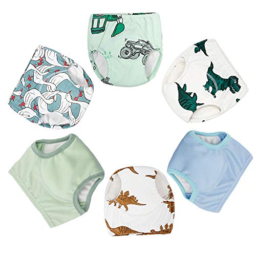 - Baby Cotton Training Pants 6-Pack Padded 6 Layer Potty Training Underwear for Toddler Boys 5T