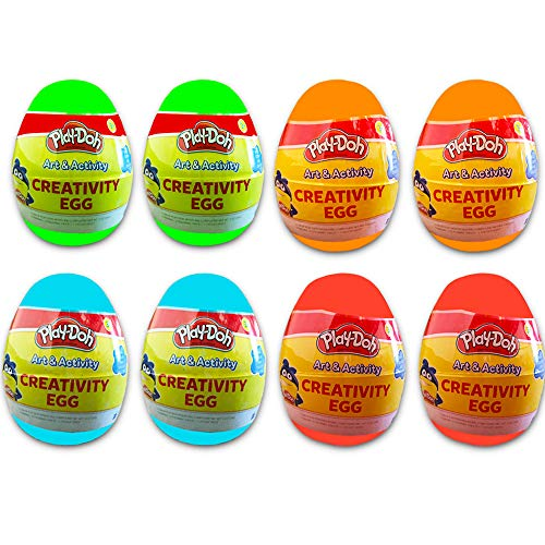 Play-Doh Party Favors Set for Toddlers Kids -- 8 Individual Creativity Eggs with Dough, Coloring Sheets, Stickers, and Crayons (PlayDoh Party Supplies) for $<!--$14.95-->