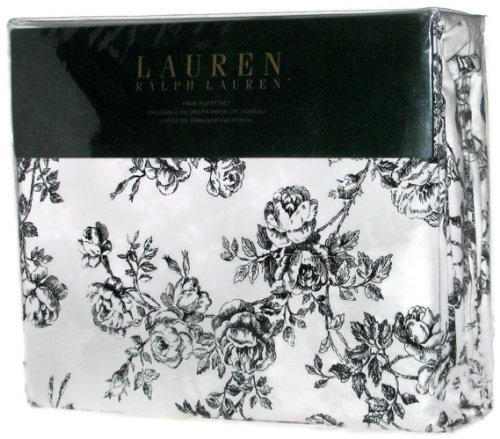 Amazon Lauren Ralph Lauren Twin Sheet Set Black White Toile