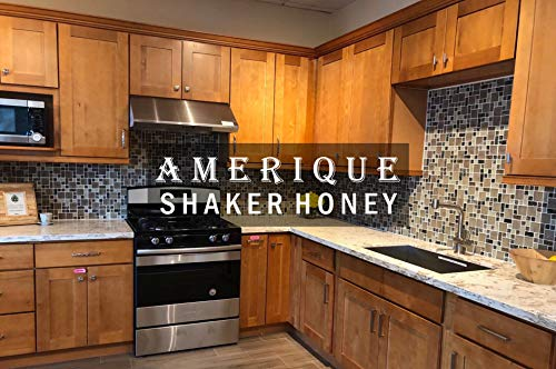 (AMERIQUE 691322310672 Luxury Shaker Honey Vanity Cabinet 30